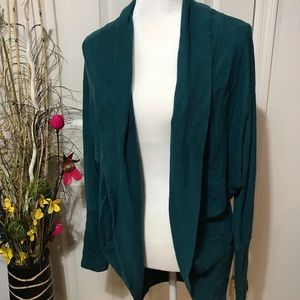 Cool teal color cardigan